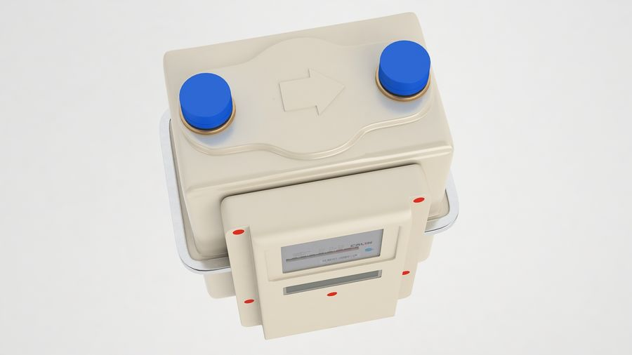 Gas Prepayment Meter 03 royalty-free 3d model - Preview no. 7