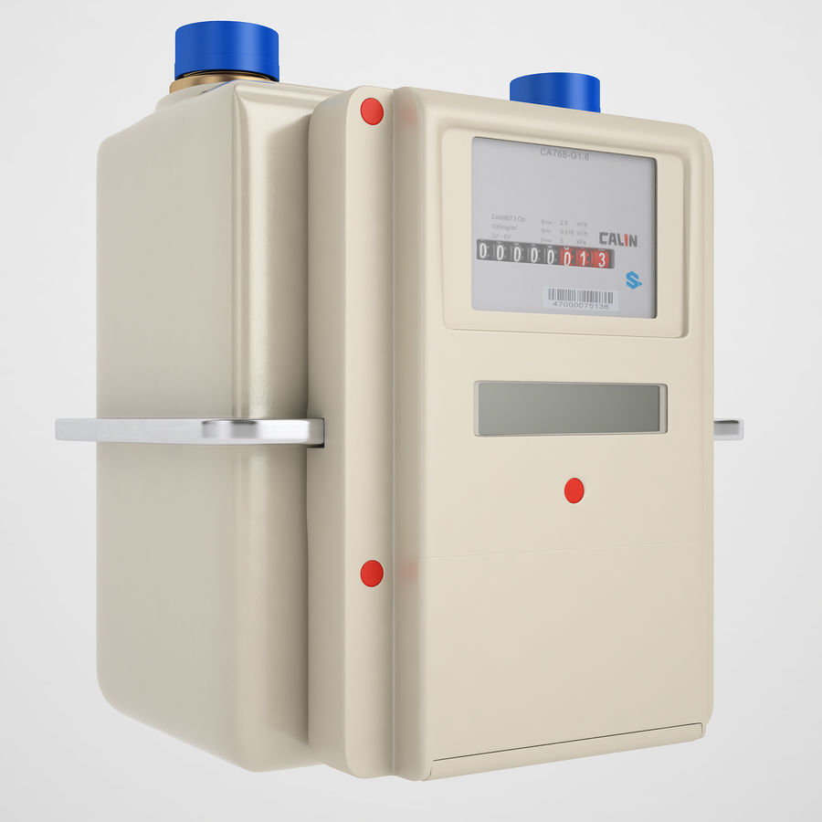 Gas Prepayment Meter 03 royalty-free 3d model - Preview no. 2