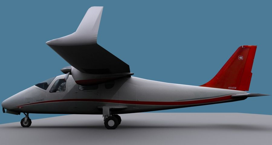 Tecnam P2006T - 2 Liveries royalty-free 3d model - Preview no. 3