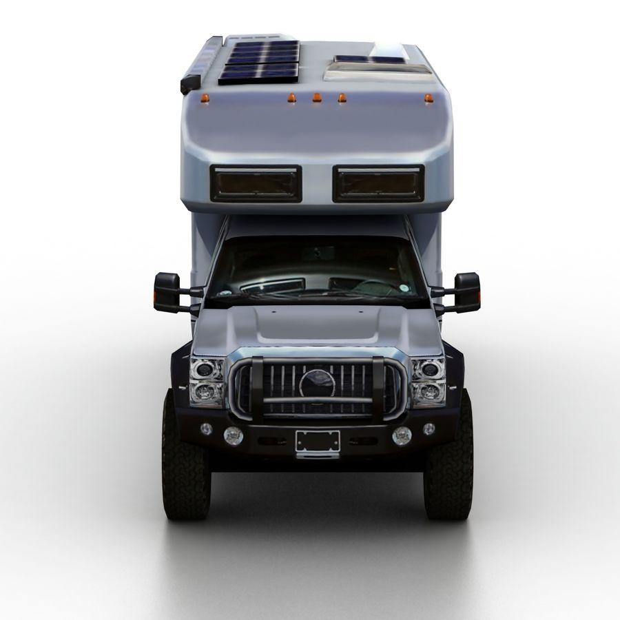Low Poly Generic RV v01 royalty-free 3d model - Preview no. 4