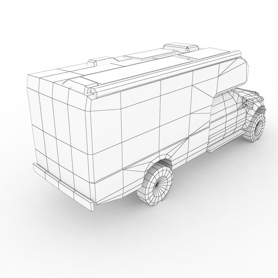 Low Poly Generic RV v01 royalty-free 3d model - Preview no. 9