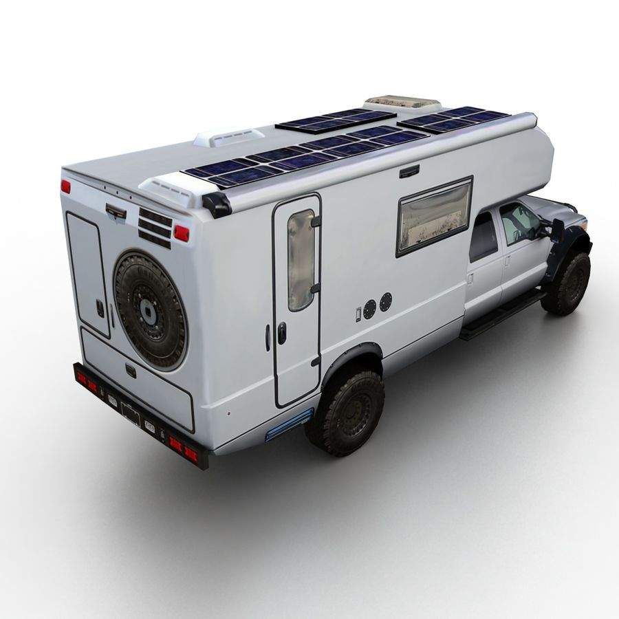 Low Poly Generic RV v01 royalty-free 3d model - Preview no. 2
