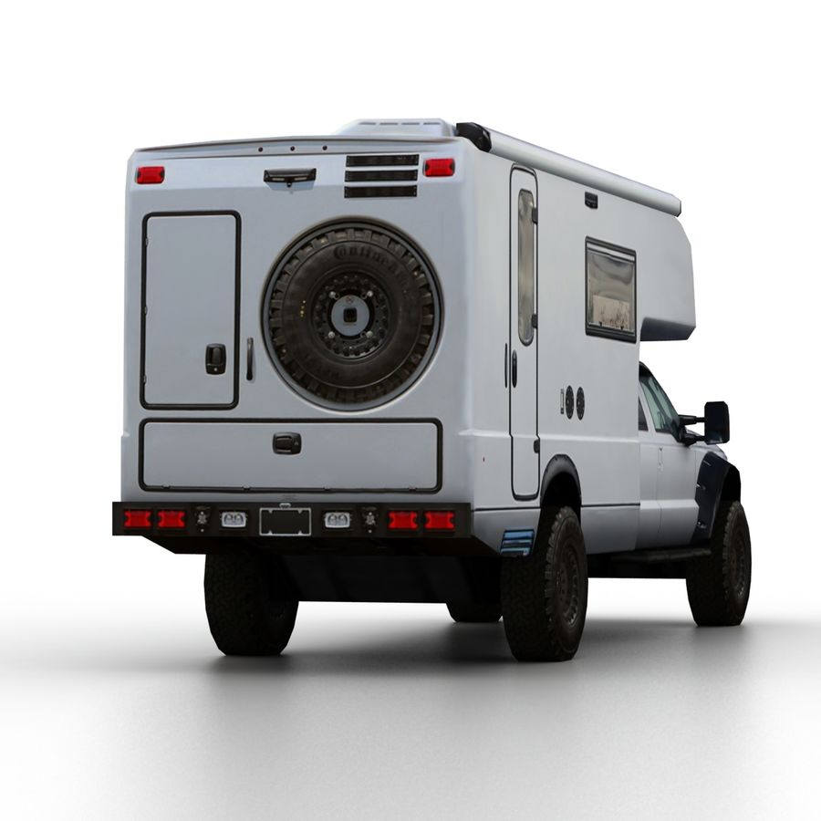 Low Poly Generic RV v01 royalty-free 3d model - Preview no. 7