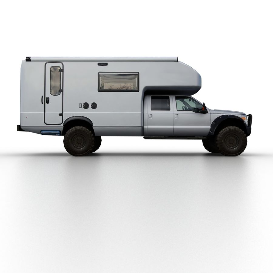 Low Poly Generic RV v01 royalty-free 3d model - Preview no. 3