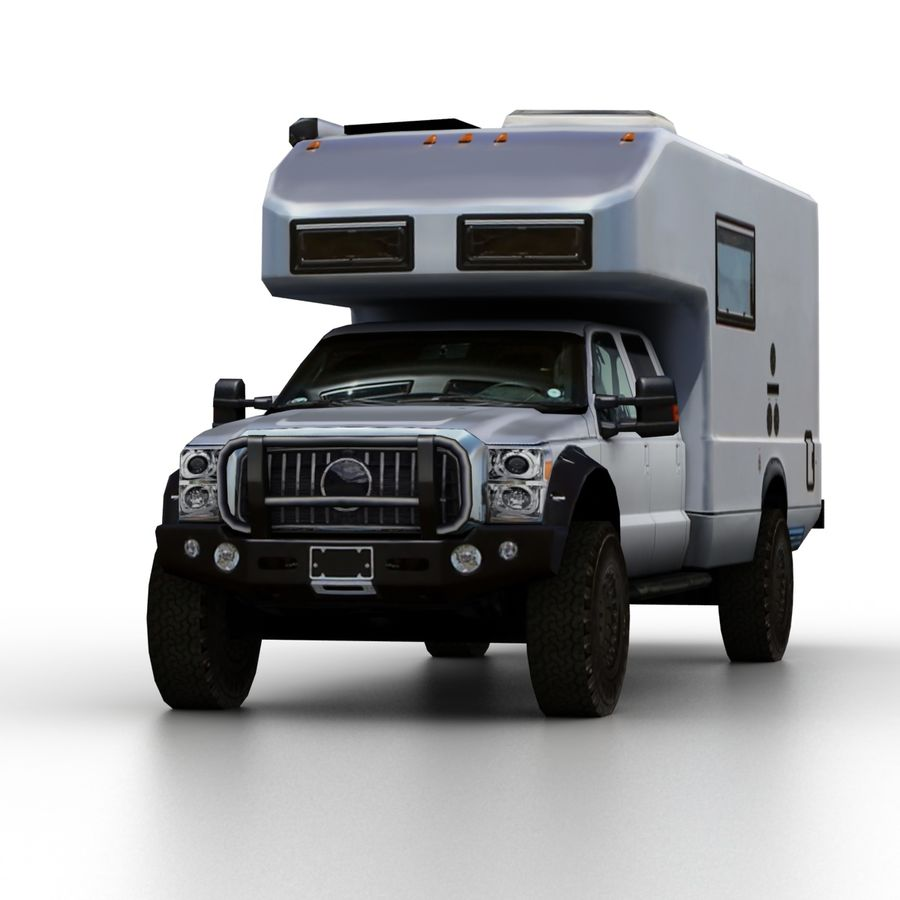 Low Poly Generic RV v01 royalty-free 3d model - Preview no. 6