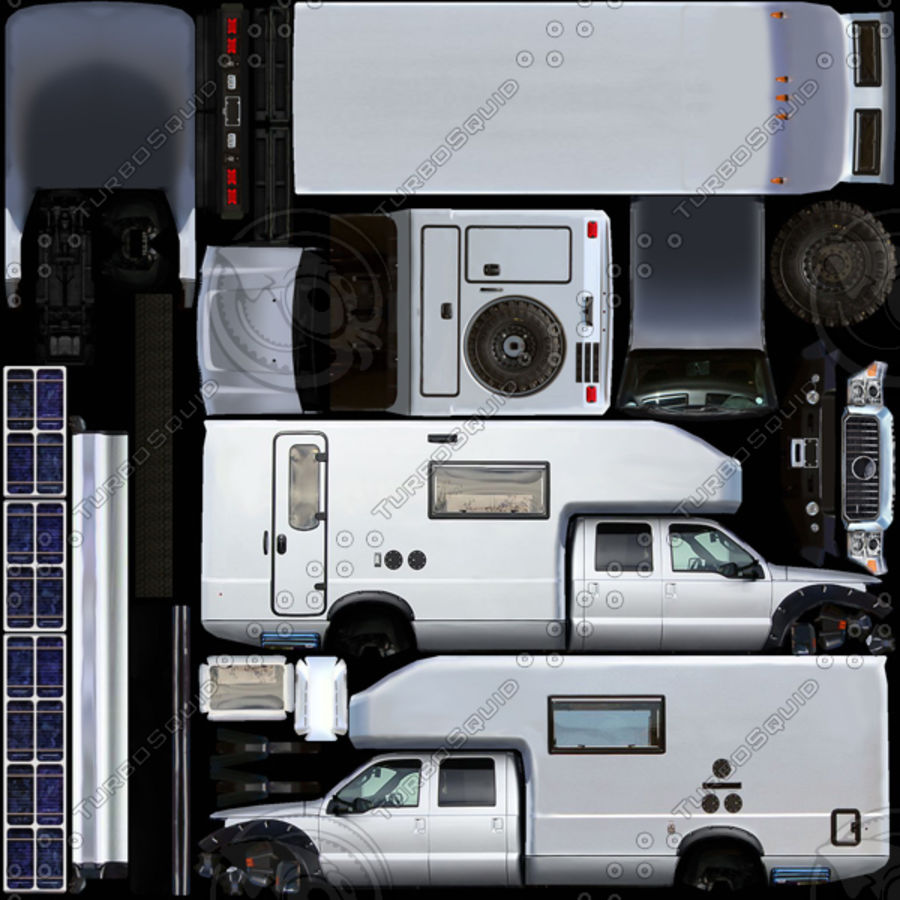 Low Poly Generic RV v01 royalty-free 3d model - Preview no. 10