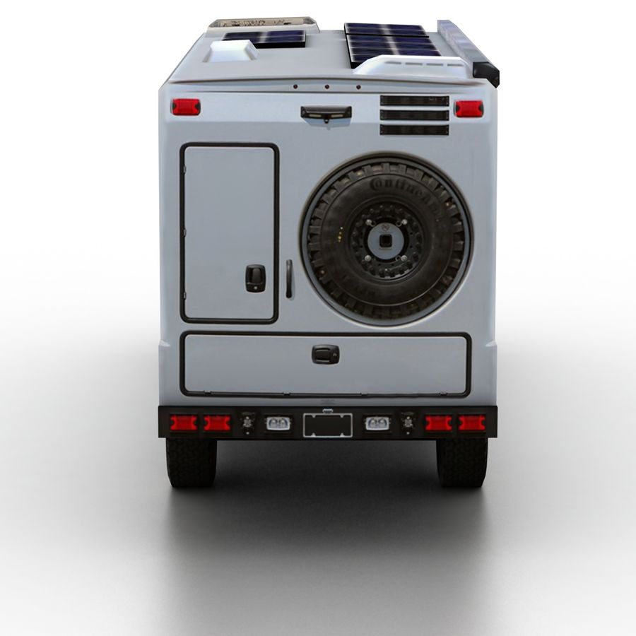 Low Poly Generic RV v01 royalty-free 3d model - Preview no. 5