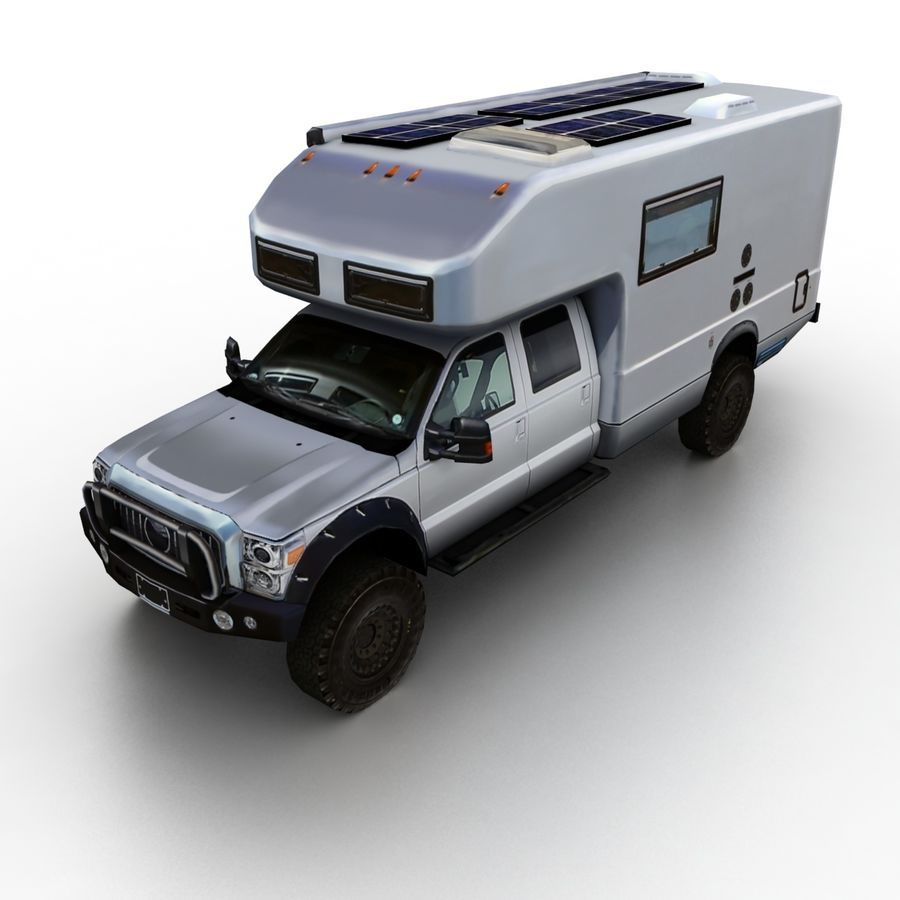Low Poly Generic RV v01 royalty-free 3d model - Preview no. 1