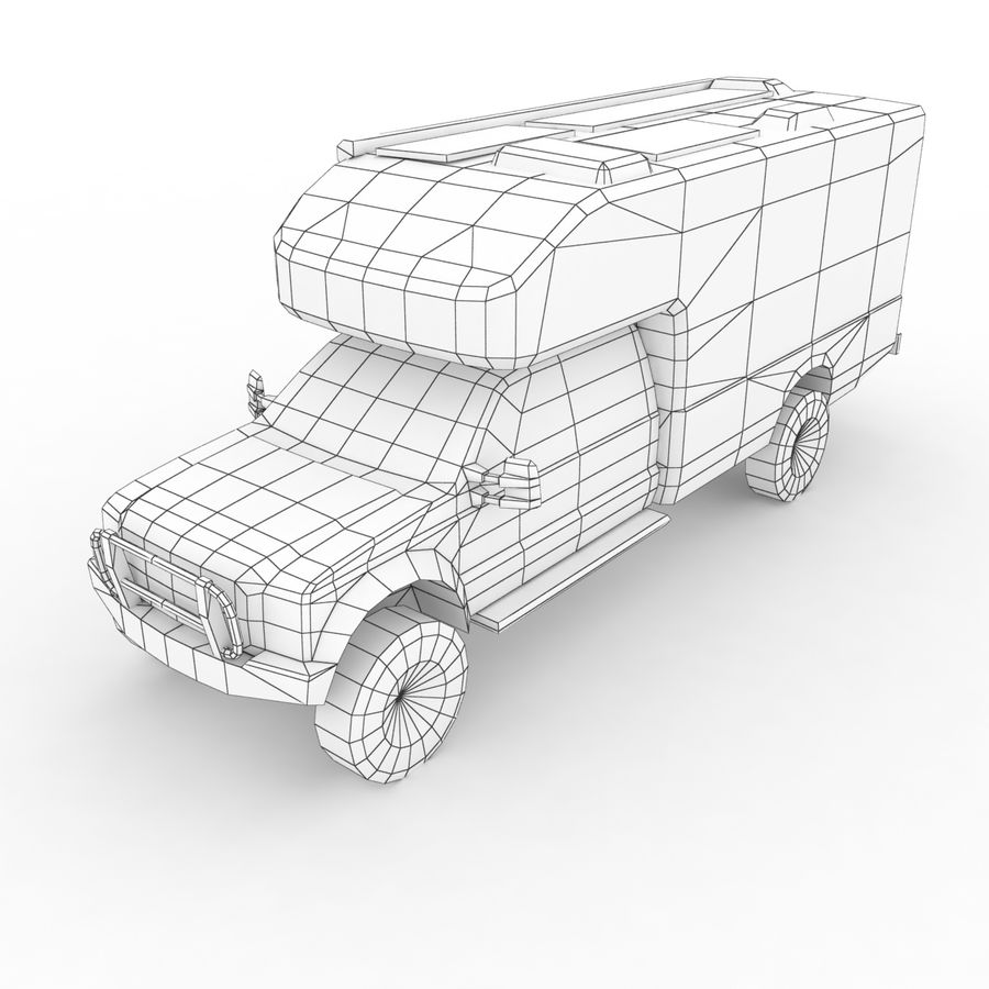 Low Poly Generic RV v01 royalty-free 3d model - Preview no. 8