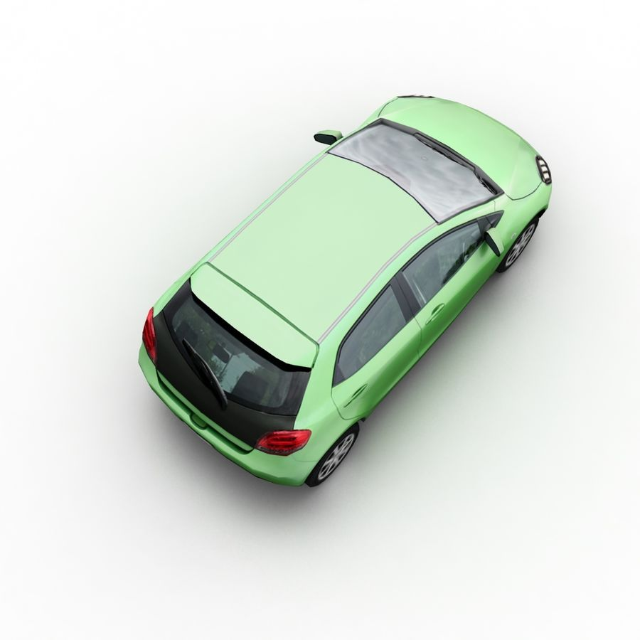 Low Poly Generic Hatchback v04 royalty-free 3d model - Preview no. 6