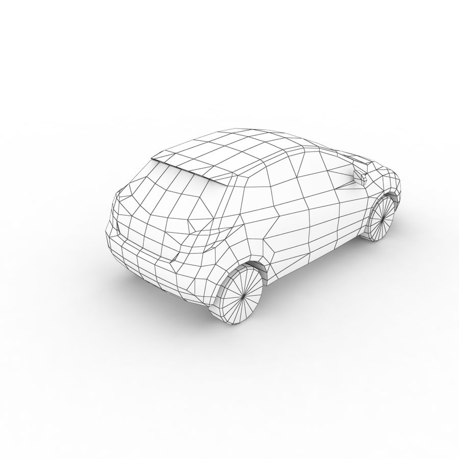 Low Poly Generic Hatchback v04 royalty-free 3d model - Preview no. 8