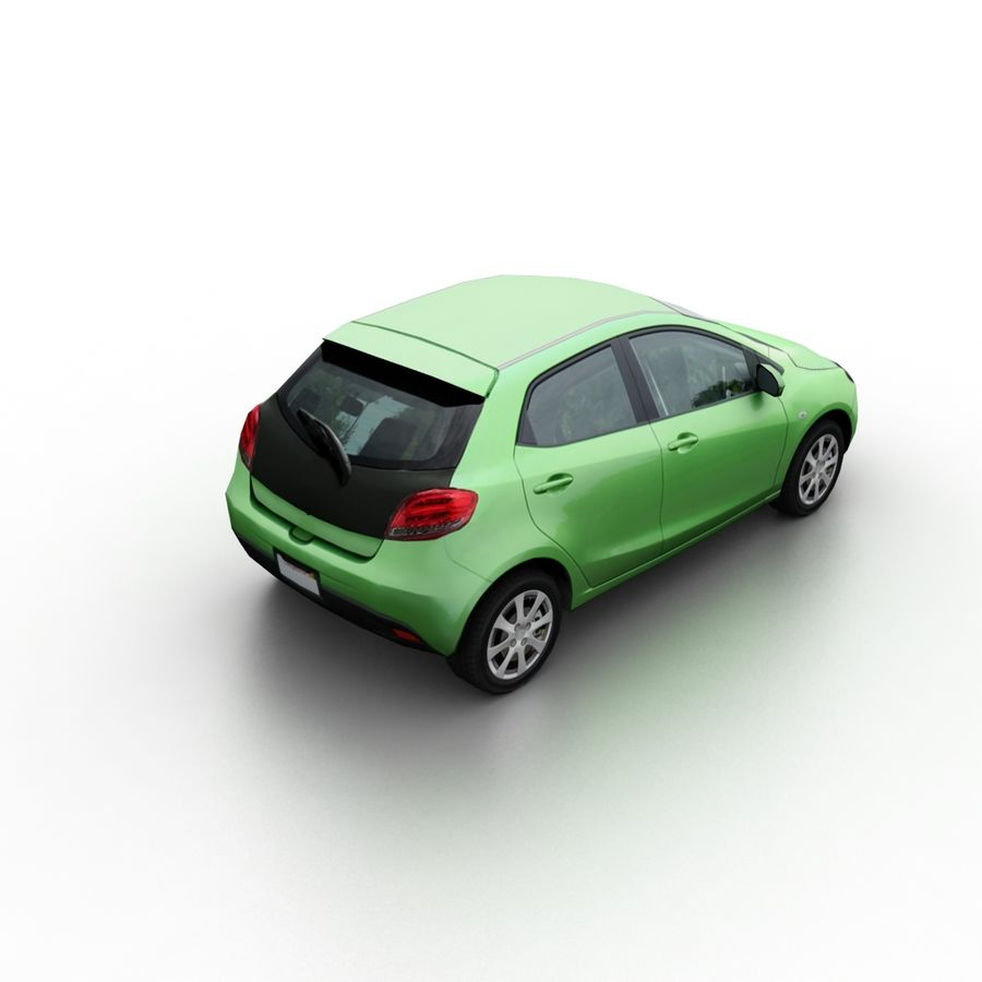 Low Poly Generic Hatchback v04 royalty-free 3d model - Preview no. 2