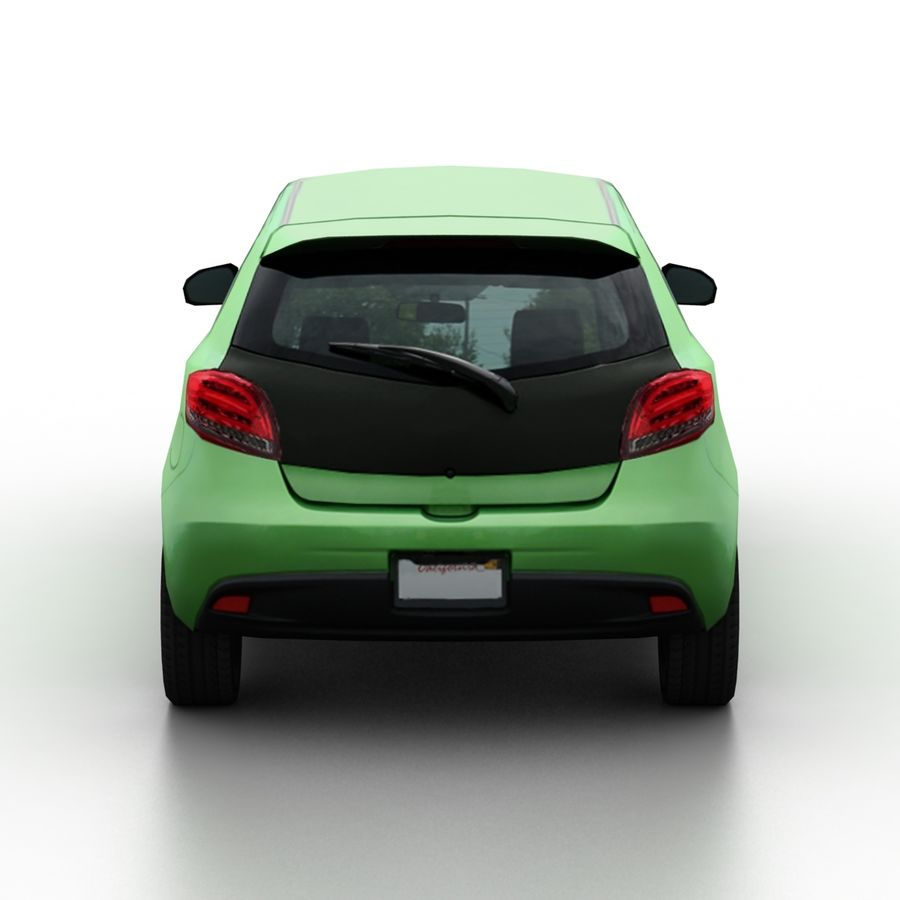 Low Poly Generic Hatchback v04 royalty-free 3d model - Preview no. 5