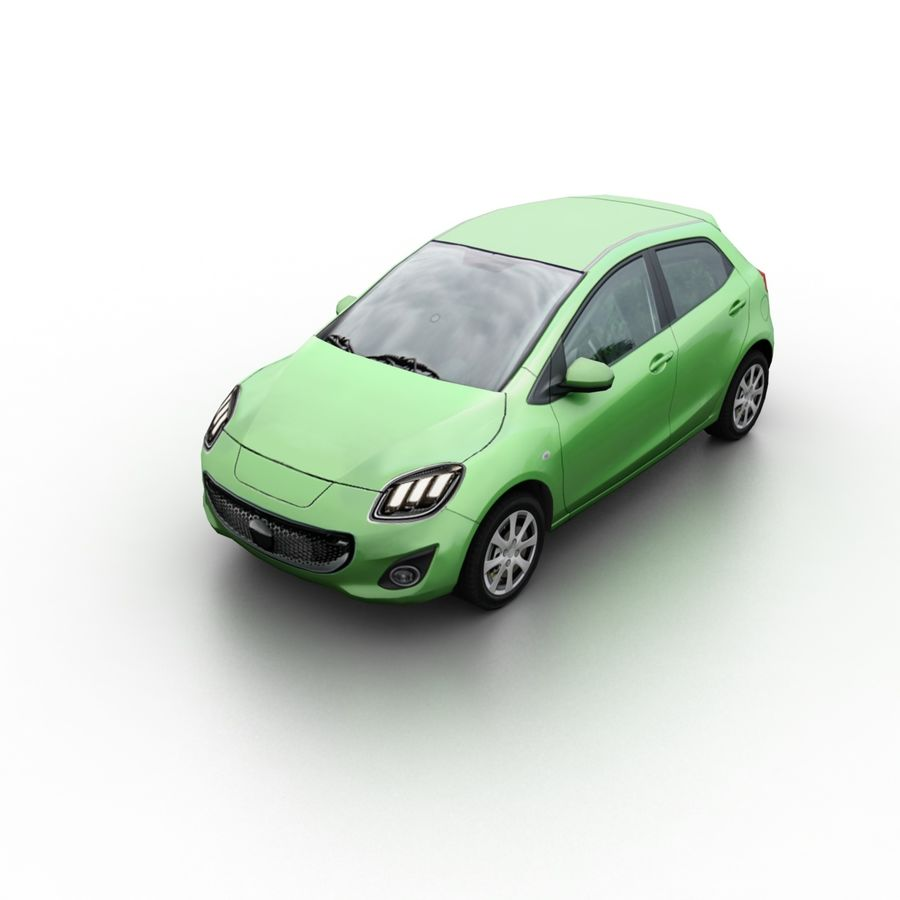 Low Poly Generic Hatchback v04 royalty-free 3d model - Preview no. 1