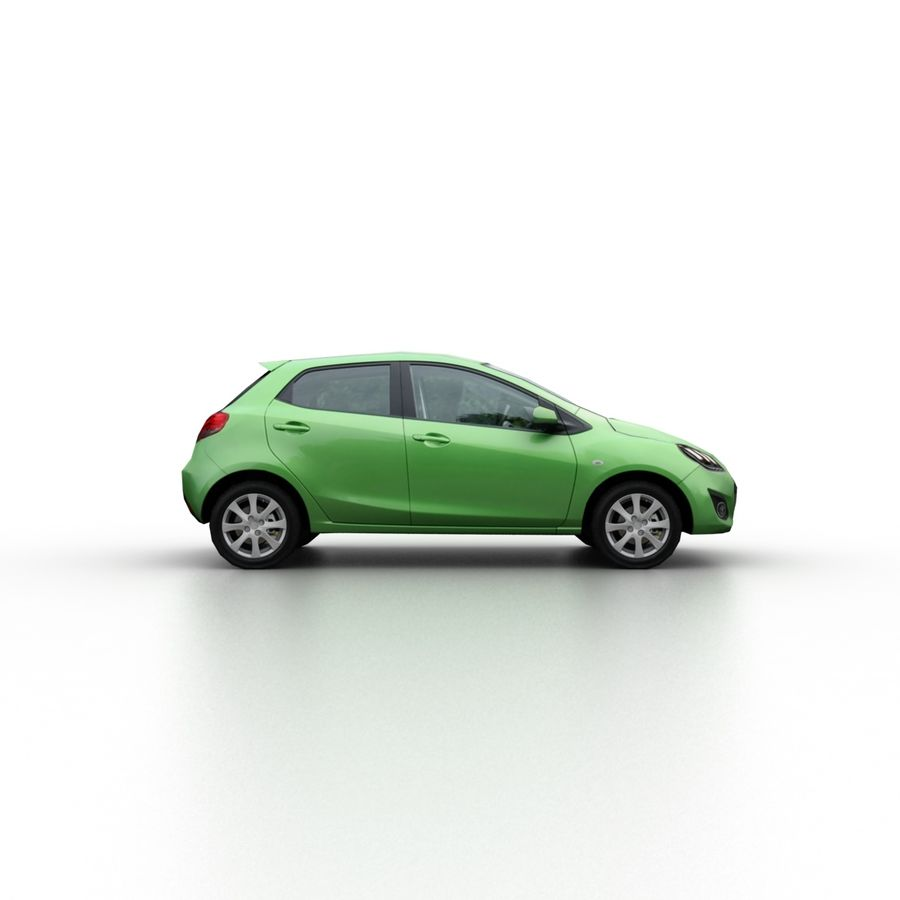 Low Poly Generic Hatchback v04 royalty-free 3d model - Preview no. 3