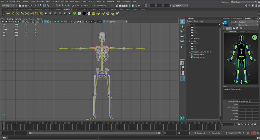 Substance Skeleton Army royalty-free 3d model - Preview no. 5
