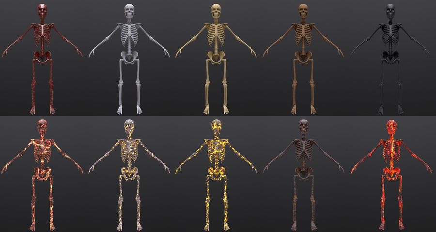Substance Skeleton Army royalty-free 3d model - Preview no. 1
