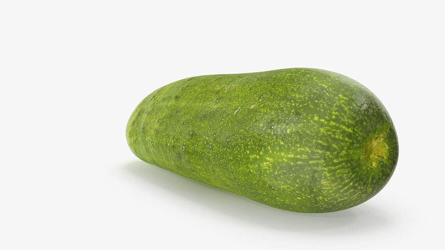 Cucumber 07 royalty-free 3d model - Preview no. 5