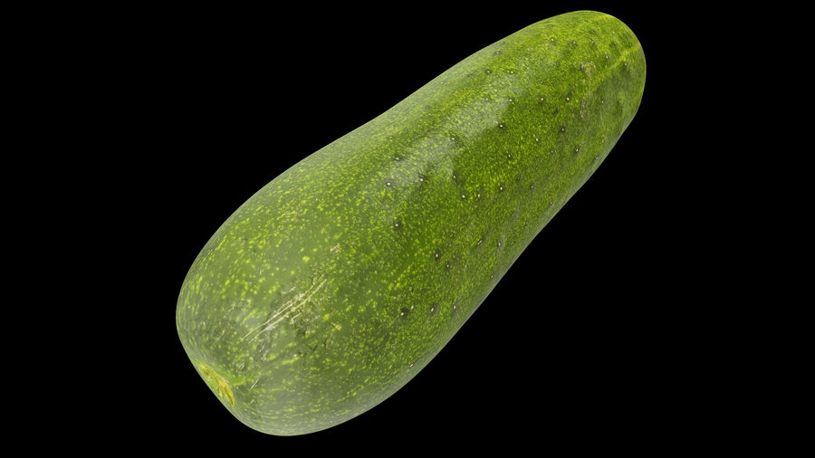 Cucumber 07 royalty-free 3d model - Preview no. 2