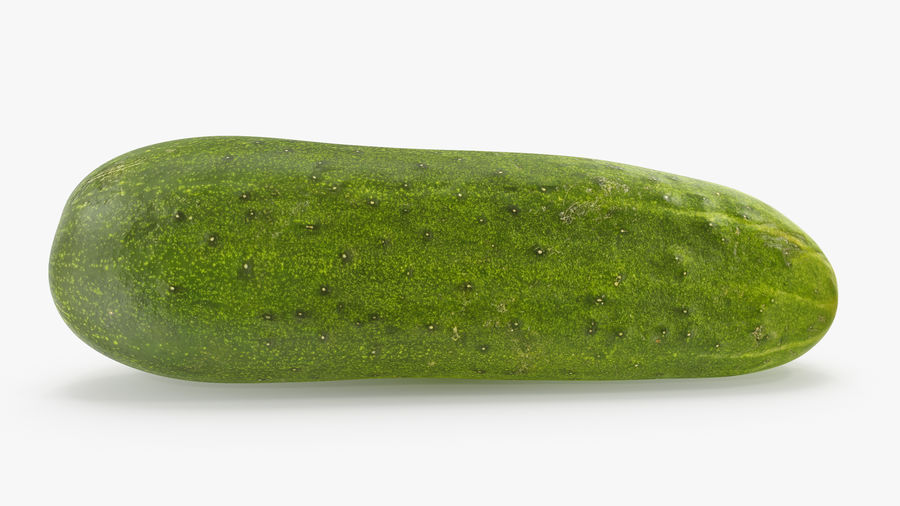 Cucumber 07 royalty-free 3d model - Preview no. 3