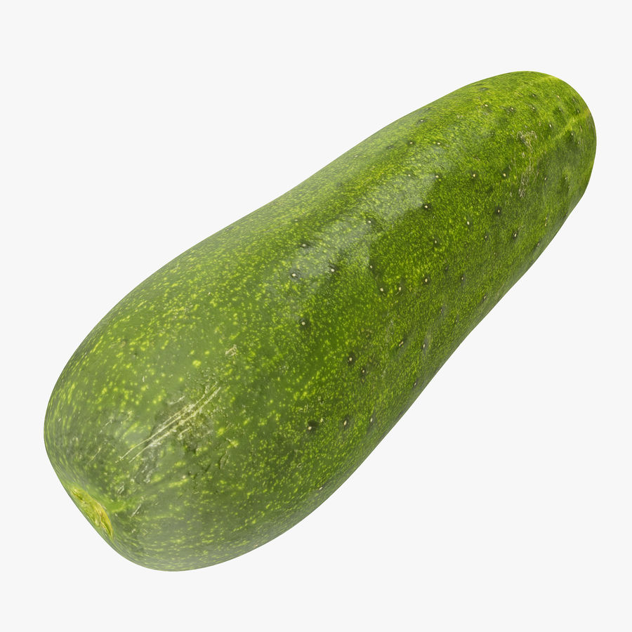Cucumber 07 royalty-free 3d model - Preview no. 1