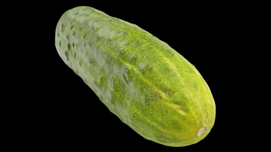 Cucumber 07 Hi Poly royalty-free 3d model - Preview no. 2