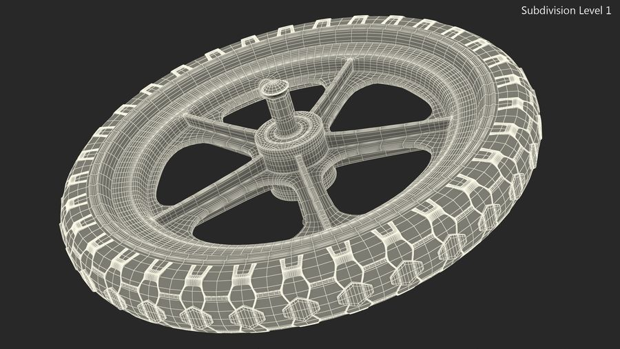 Balance Bike Wheel royalty-free 3d model - Preview no. 11