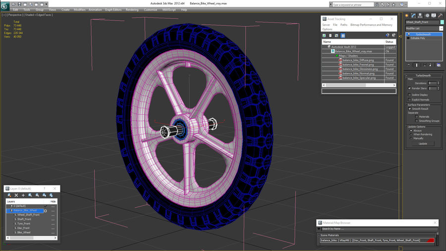 Koło rowerowe Balance royalty-free 3d model - Preview no. 16
