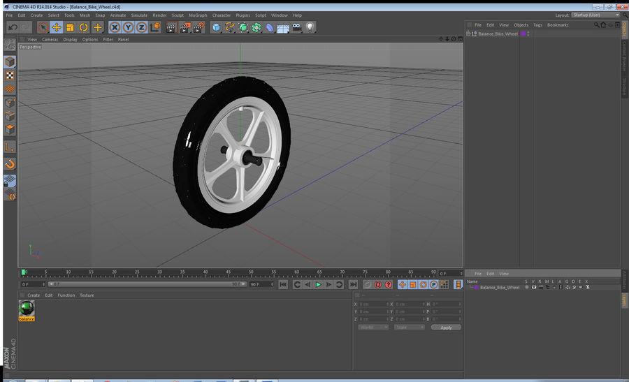 Balance Bike Wheel royalty-free 3d model - Preview no. 15