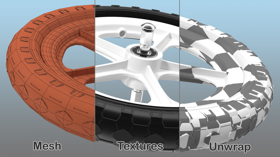 Balance Bike Wheel royalty-free 3d model - Preview no. 4