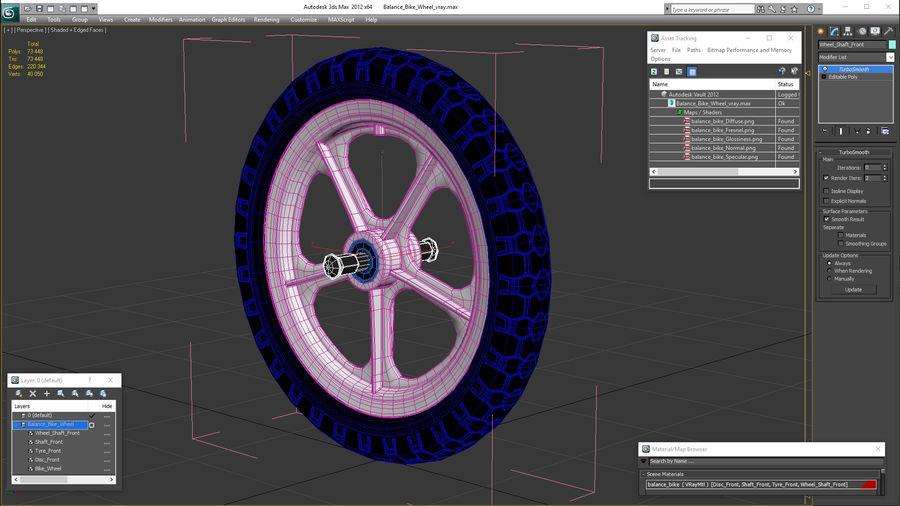 Balance Bike Wheel royalty-free 3d model - Preview no. 16