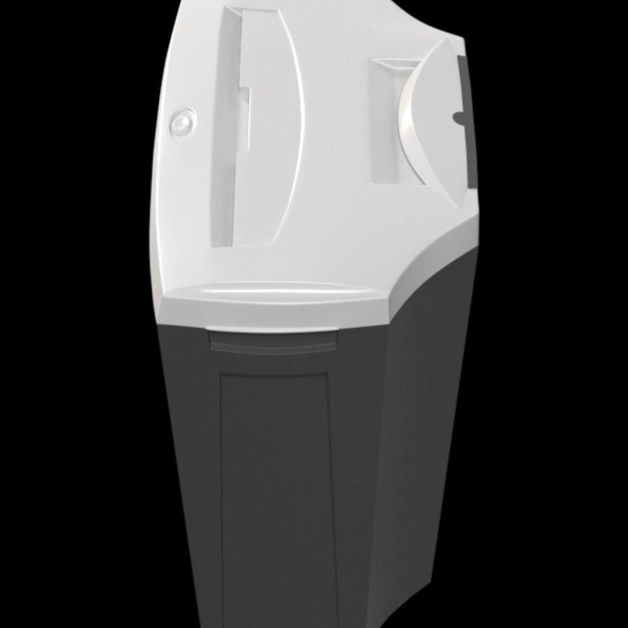 paper shredder BRAUBERG S12 royalty-free 3d model - Preview no. 3