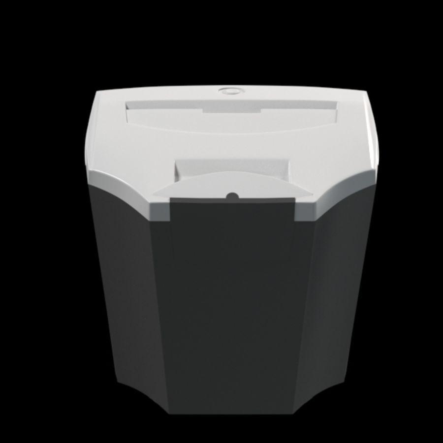 paper shredder BRAUBERG S12 royalty-free 3d model - Preview no. 5