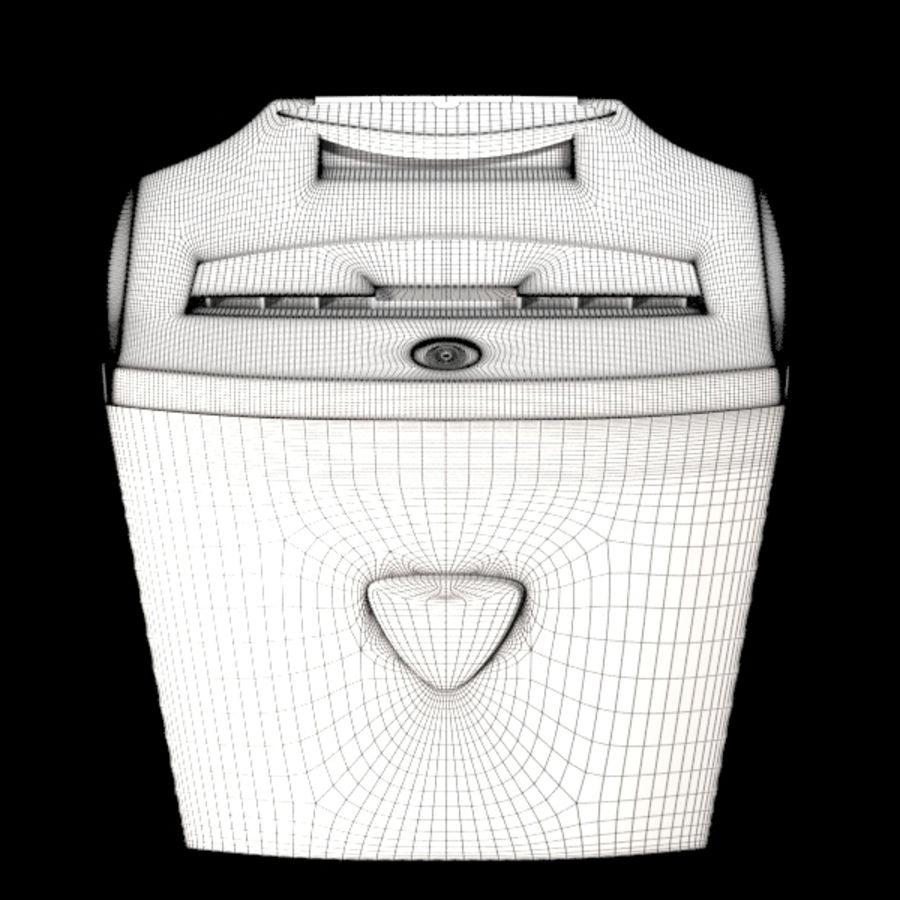 paper shredder BRAUBERG S12 royalty-free 3d model - Preview no. 8
