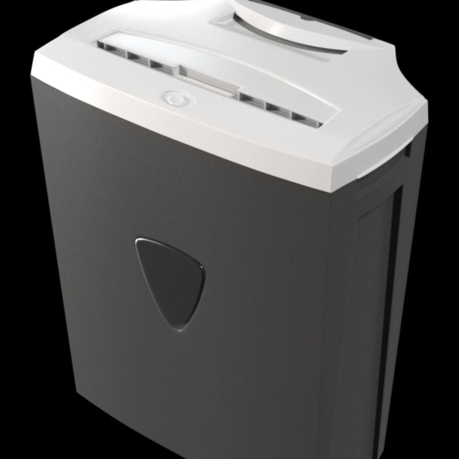 paper shredder BRAUBERG S12 royalty-free 3d model - Preview no. 1