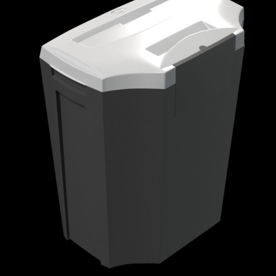 paper shredder BRAUBERG S12 royalty-free 3d model - Preview no. 4