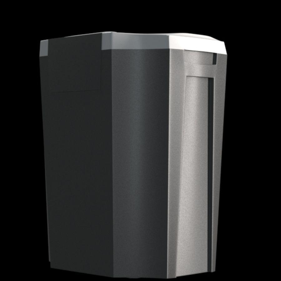 paper shredder BRAUBERG S12 royalty-free 3d model - Preview no. 6