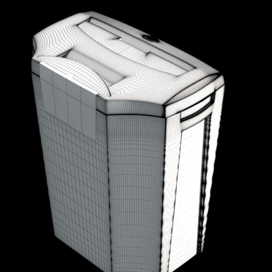 paper shredder BRAUBERG S12 royalty-free 3d model - Preview no. 7