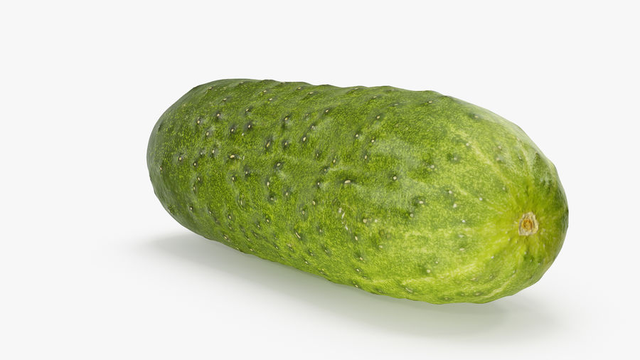 Cucumber 08 Hi Poly royalty-free 3d model - Preview no. 8