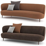 Stay Sofa Wood base by GUBI 3d model
