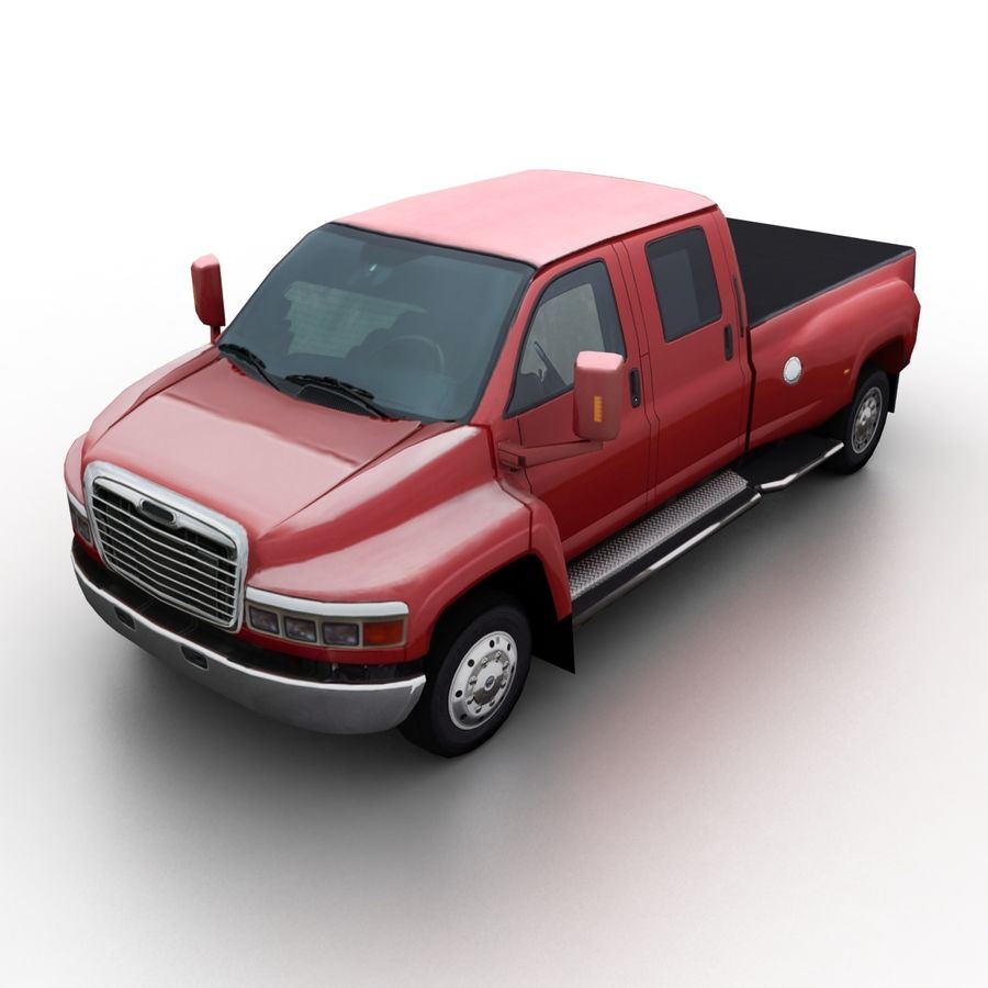 Low Poly Generic Pickup v.02 royalty-free 3d model - Preview no. 1