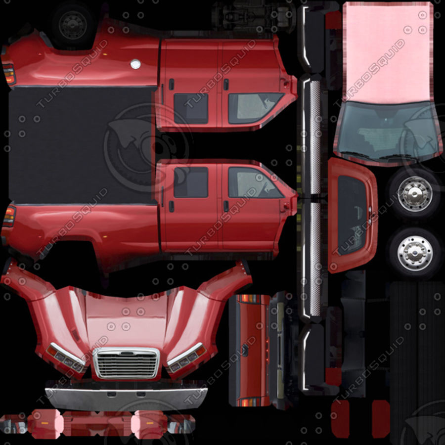Low Poly Generic Pickup v.02 royalty-free 3d model - Preview no. 9