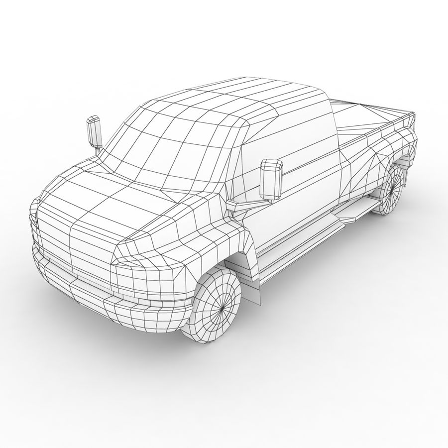 Low Poly Generic Pickup v.02 royalty-free 3d model - Preview no. 7