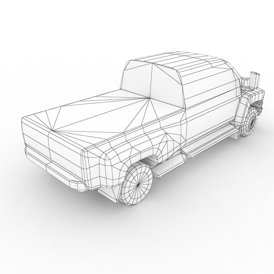 Low Poly Generic Pickup v.02 royalty-free 3d model - Preview no. 8