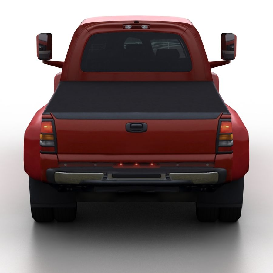 Low Poly Generic Pickup v.02 royalty-free 3d model - Preview no. 5