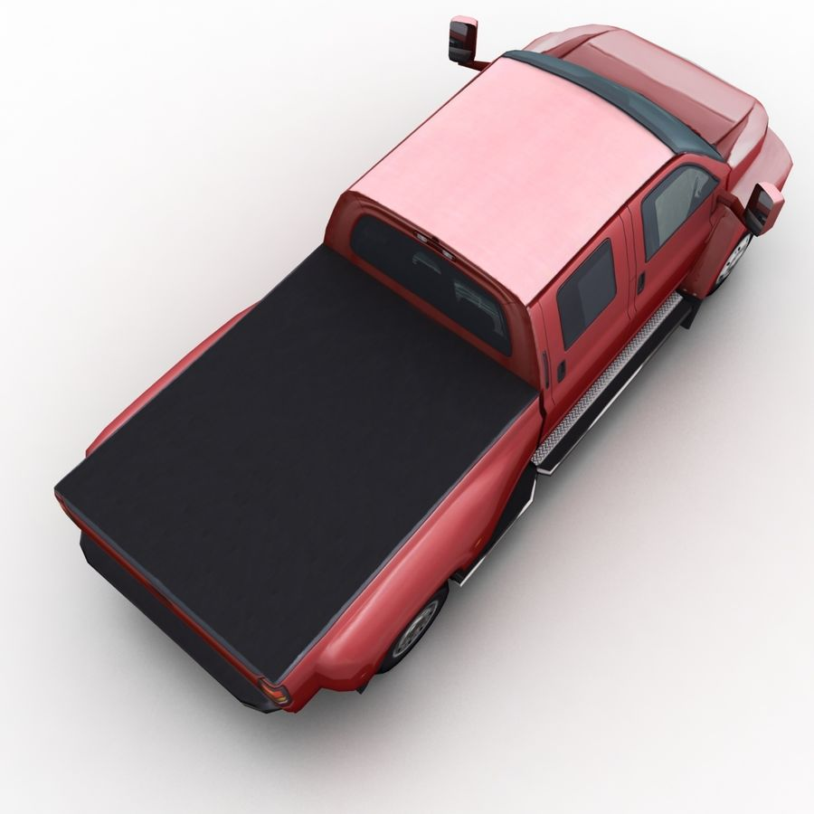 Low Poly Generic Pickup v.02 royalty-free 3d model - Preview no. 6