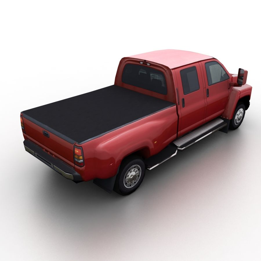 Low Poly Generic Pickup v.02 royalty-free 3d model - Preview no. 2