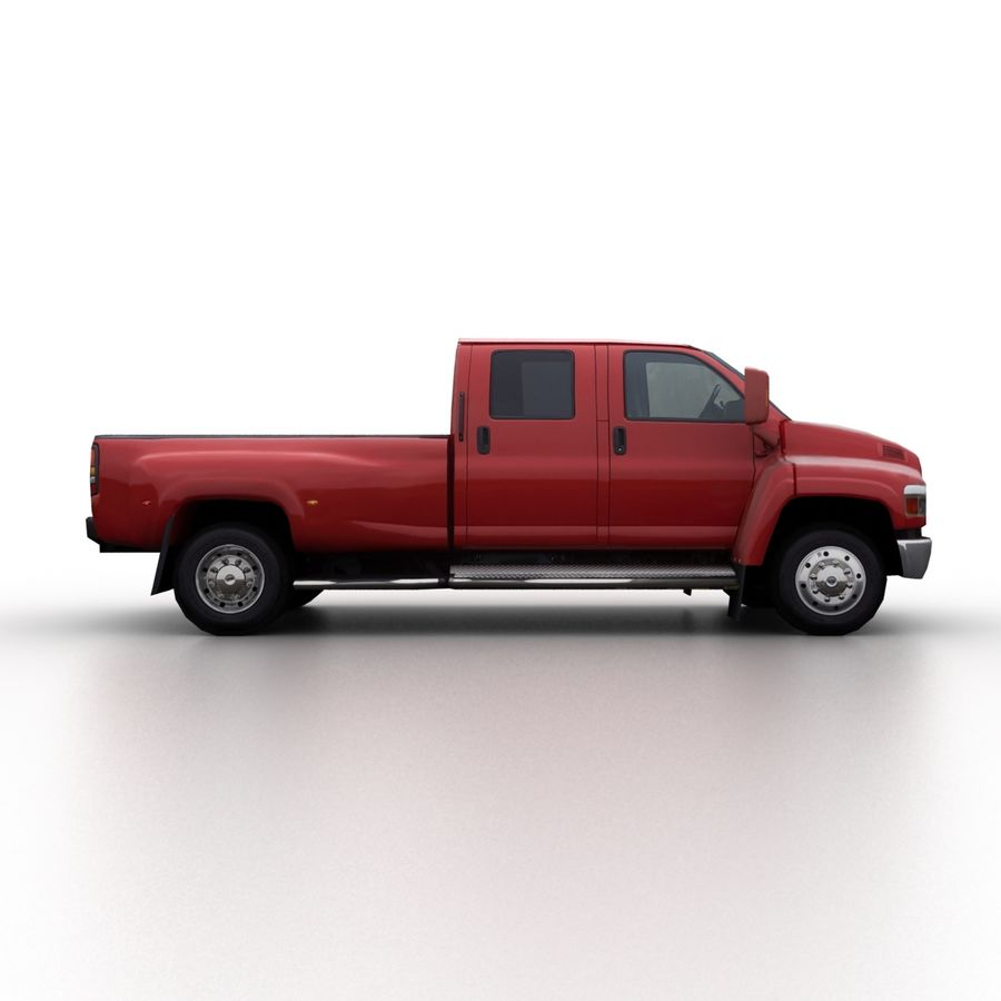 Low Poly Generic Pickup v.02 royalty-free 3d model - Preview no. 3