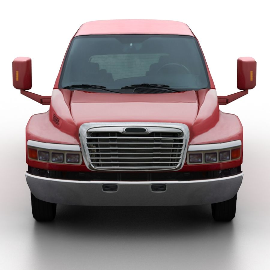 Low Poly Generic Pickup v.02 royalty-free 3d model - Preview no. 4