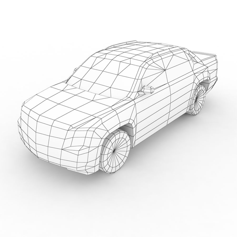 Low Poly Generic Pickup v03 royalty-free 3d model - Preview no. 7